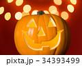 ハロウィン かぼちゃランタン 34393499