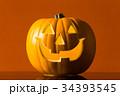 ハロウィン かぼちゃランタン 34393545