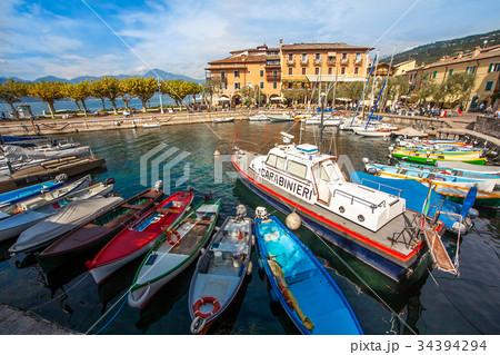 At the port of Torri Del Benaco Lake Garda Italy 34394294
