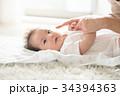 母子 母親 赤ちゃんの写真 34394363