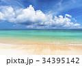 ニシハマ 海 波打ち際の写真 34395142
