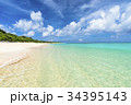 ニシハマ 海 波打ち際の写真 34395143