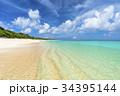 ニシハマ 海 波打ち際の写真 34395144