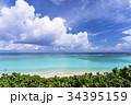 ニシハマ 海 雲の写真 34395159