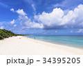 ニシハマ 海 エメラルドグリーンの写真 34395205
