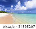 ニシハマ 海 波打ち際の写真 34395207