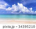 ニシハマ 海 波打ち際の写真 34395210