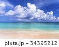 ニシハマ 海 砂浜の写真 34395212