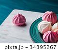 メレンゲ ピンク ピンク色の写真 34395267