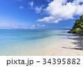 サンゴ礁 海 空の写真 34395882