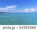 西桟橋 サンゴ礁 海の写真 34395886