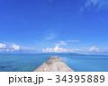 西桟橋 サンゴ礁 海の写真 34395889