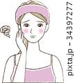 女性 悩み スキンケアのイラスト 34397277