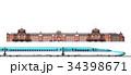 東京駅と新幹線 34398671