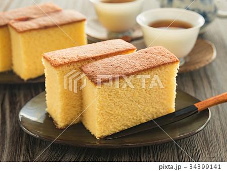カステラ 菓子 おやつ スイーツ 焼き菓子 おうちカフェ 家カフェ 34399141