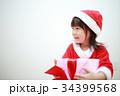 女の子 子供 クリスマスの写真 34399568