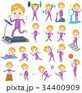 男性 学生 トレーニングのイラスト 34400909