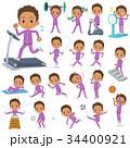 男性 学生 トレーニングのイラスト 34400921