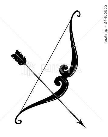 弓矢 イラストのイラスト素材 34405955 Pixta