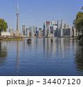 Toronto's skyline over Lake Ontario 34407120