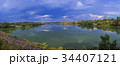 Panorama of lake with clouds 34407121