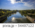 Panorama of lake with clouds 34407122