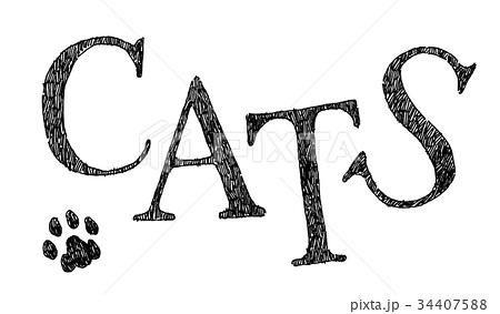ボールペンで描いたCATSのデザインロゴ 34407588
