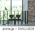 ヴィンテージ 椅子 インテリアのイラスト 34411828