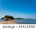 小豆島 エンジェルロード 海の写真 34412690