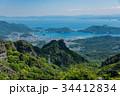 小豆島 寒霞渓 四方指展望台からの内海湾と草壁港 寒霞渓ロー 34412834