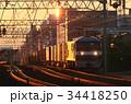 夜明けの貨物列車 34418250