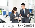 ビジネスマン ビジネスウーマン オフィスの写真 34420034