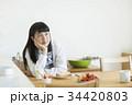 女子学生 朝食 34420803