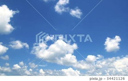 Blue sky white clouds 34421126