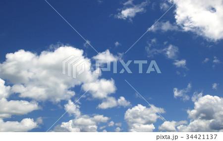 Blue sky white clouds 34421137