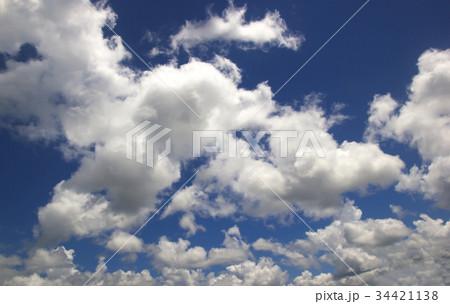 Blue sky white clouds 34421138