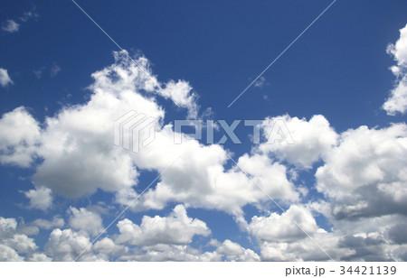Blue sky white clouds 34421139