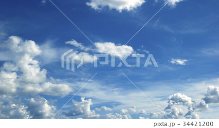 blue sky with clouds 34421200