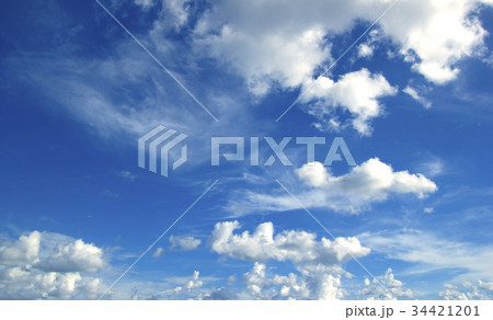 blue sky with clouds 34421201