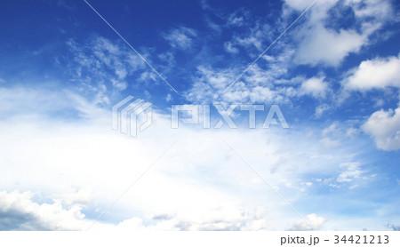 Blue sky white clouds 34421213