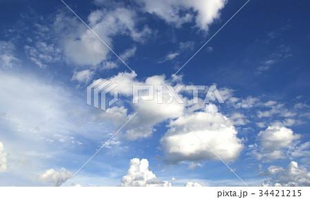 Blue sky white clouds 34421215