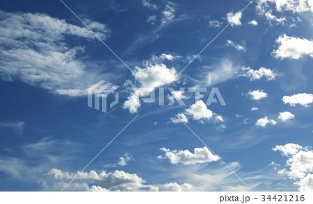 Blue sky white clouds 34421216