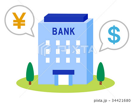 銀行のとのイラスト素材 34421680 Pixta