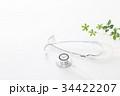 医療 聴診器 診察の写真 34422207