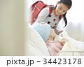 闘病中の母とお見舞いにきた小学生 34423178