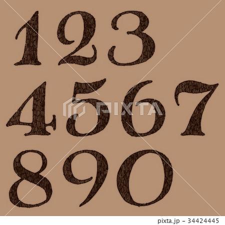 ボールペンで描いた数字のイラスト素材 34424445 Pixta