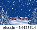 クリスマス 街 望遠 夜 34425614