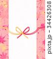 水引 和紙 背景素材のイラスト 34426308