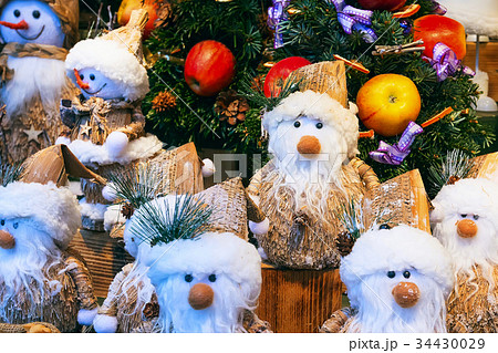 European Christmas market stall with different 34430029
