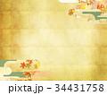 和柄 紅葉 金箔のイラスト 34431758